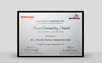 Awards Sharda Motor Industries Limitedsharda Motor